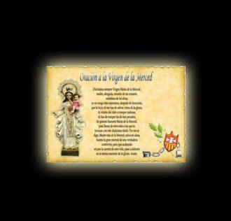 Orazione alla Vergine della Mercede - Pergamena