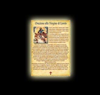Orazione alla Vergine di Loreto - Pergamena