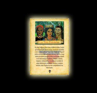 Tres Potencias prayer - parchment