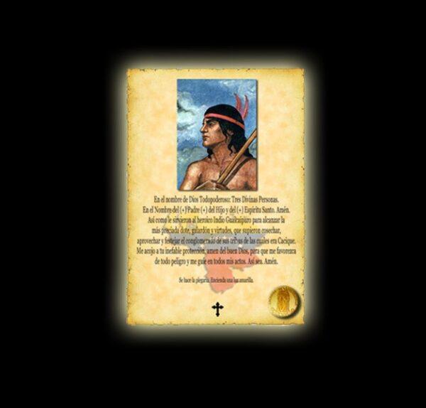Guaicapuro prayer - parchment
