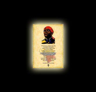 Negro Felipe 's prayer - parchment