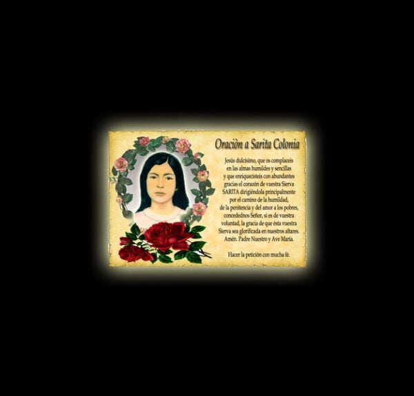 Orazione a Sarita Colonia - Pergamena