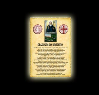 Orazione di San Benedetto - Pergamena