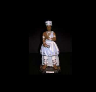 Plaster statue Oxaguiàn Candomblè 40 cm