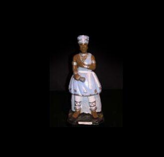 Plaster Statue Oxaguiàn  Candomblè cm 22