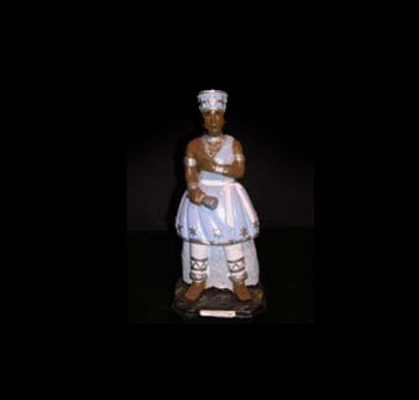 Statua in gesso Oxaguiàn Candomblè cm 22