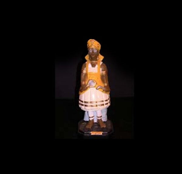 Statua in gesso Oxùm Candomblè cm 22