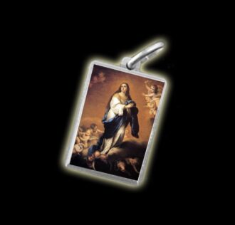 medal - Coloured image IMMACULATE CONCEPTION - silver 925