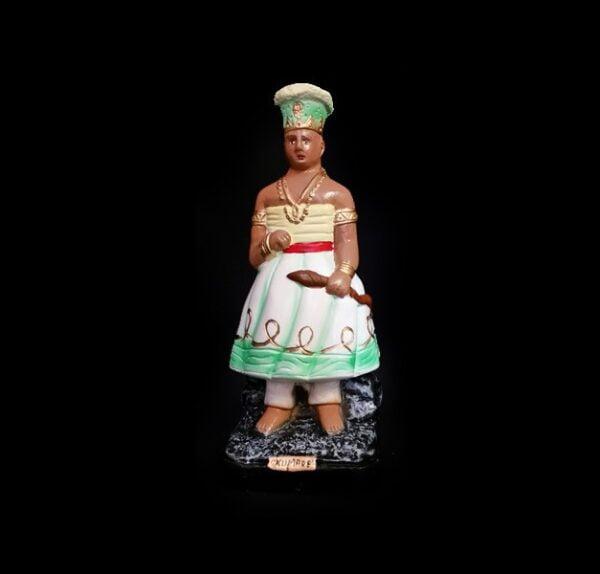 Statua in gesso Oxumaré Candomblé cm 22