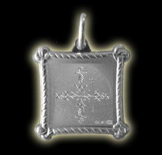 Vevè Papa Legba medal - Silver 925