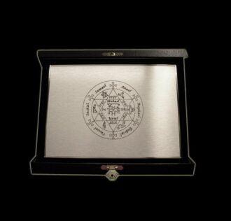 ANGELIC ESAGRAMMA - SILVER BRASS PLATE - 18 X 13 CM WITH VELVET BOX