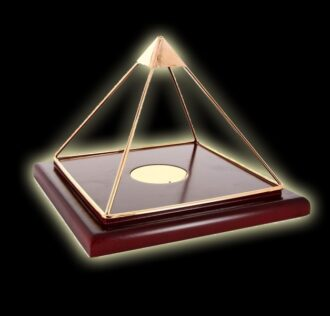 NOBLE PYRAMID WITH WOOD BASE