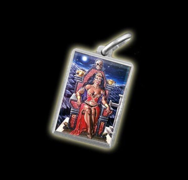 Medaglia - Immagine a colori POMBA GIRA RAINHA -  argento 925