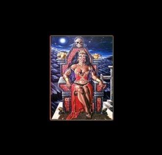 POMBA GIRA RAINHA - STAMPA SUBLIMATICA SU ALLUMINIO CM 30 X 20