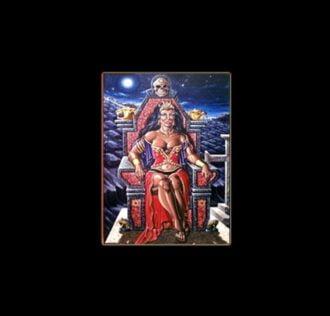 POMBA GIRA RAINHA - sublimation ON ALUMINUM 20 X 15 CM