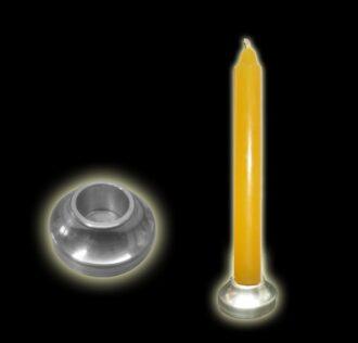 Alluminium candleholder
