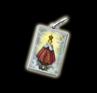 Medaglia - Immagine a colori BAMBINO DI PRAGA -  argento 925