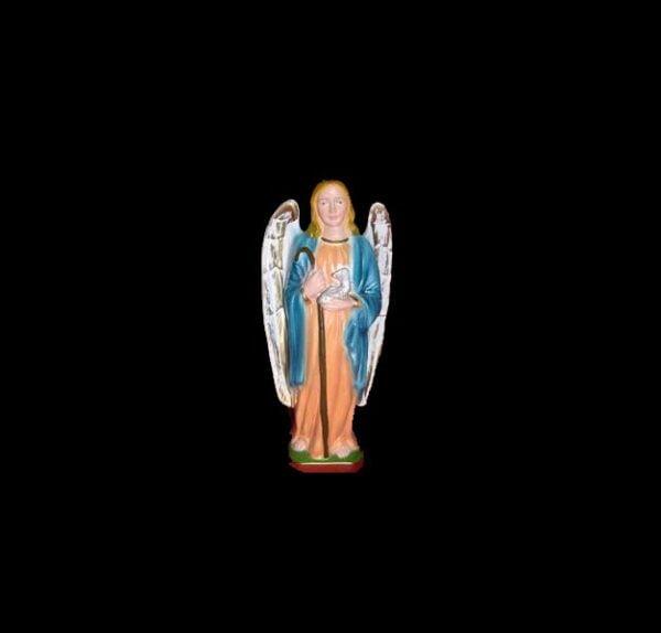 Plaster statue of the Archangel Raphale cm 20
