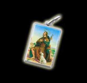 Medaglia - Immagine a colori SAN ROCCO - argento 925