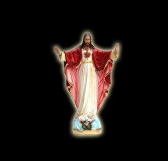 Plaster statue of Jesus Sacred Heart 40 cm