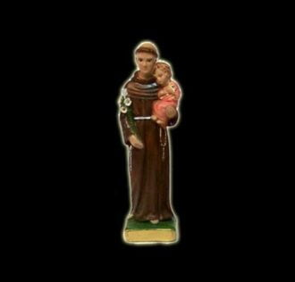 Plaster statue Sant Antonio da Padova cm 22