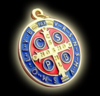 Medal of St. Benedict color (size cm 3)