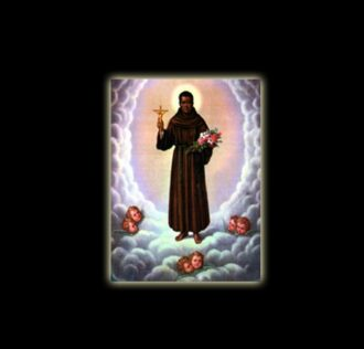 Saint Benito - sublimation ON ALUMINUM 30 X 20 CM