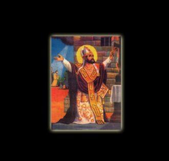 Saint Cipriano - sublimation ON ALUMINUM 20 X 15 CM