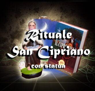 Saint Cipriano ritual + earthenware statue + book