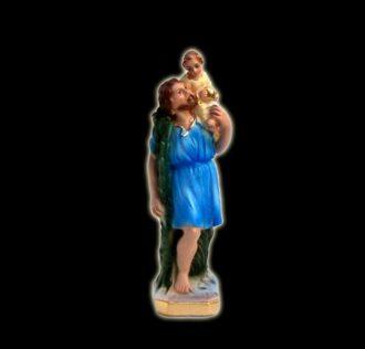 Plaster statue Saint Christopher