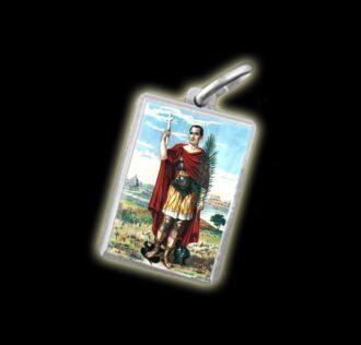Medal - Coloured image SAINT ESPEDITO - silver 925