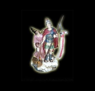 ST. FLORIAN STATUE - 12cm resin hand painted