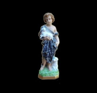 Statua di San Giovanni bambino cm 32