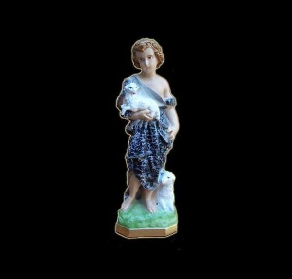 Plaster statue San Giovanni cm 32
