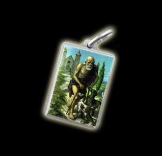 Medaglia - Immagine a colori SAN LAZZARO -  argento 925