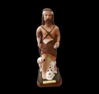 Plaster statue Saint Lazarus cm 30