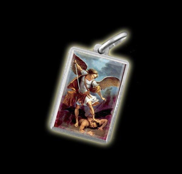 Medaglia - Immagine a colori SAN MICHELE ARCANGELO - argento 925