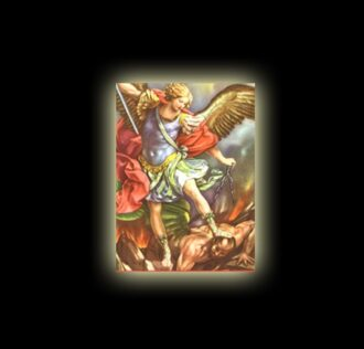 ARCHANGEL SAINT MICHAEL - SUBLIMATED PRINT ON ALUMINIUM CM 30X20