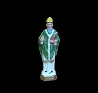 Statua in gesso San Patrizio cm 21