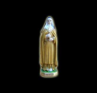 Plaster statue Saint Clara cm 21