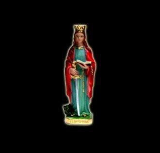 Plaster statue Saint Dymphna cm 24