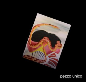 SAINT MARTHA THE RULER - HAND PAINTED ON CANVASS (OIL) CM 14X31 - SANTO DOMINGO