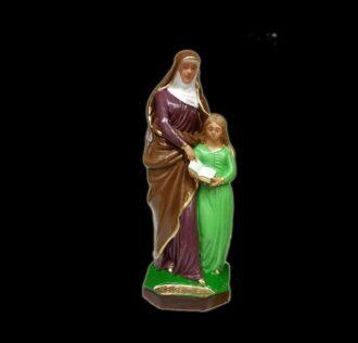 Plaster statue Sant'Anna cm 22