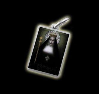 Medaglia - Immagine a colori SANTA RADEGONDA - argento 925