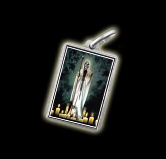 Medal - Coloured image HOLY DEATH- silver 925