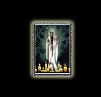 SANTISSIMA MUERTE - STAMPA SUBLIMATICA SU ALLUMINIO CM 20 X 15