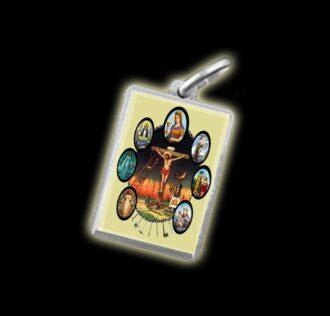 Medaglia - Immagine a colori SETTE POTENZE - argento 925