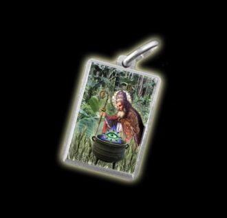 Medaglia - Immagine a colori SAN SILVESTRO - argento 925