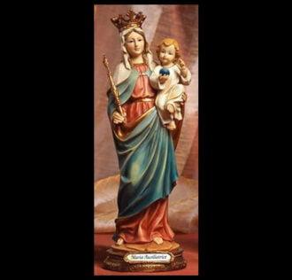 Plaster statue Maria Ausiliatrice cm 41