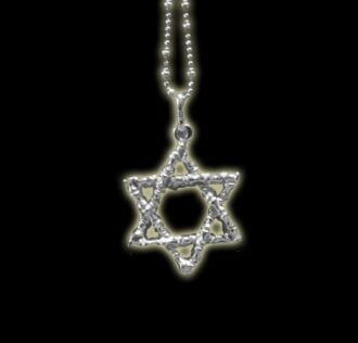 STAR OF DAVID PENDANT WROUGHT SILVER 925 GR 4